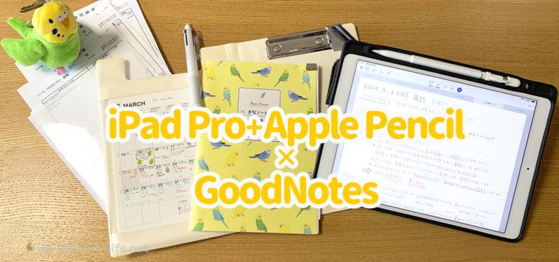 飼育記録をつけよう!iPad ProとApple Pencil+GoodNotes4で簡単管理【後半】